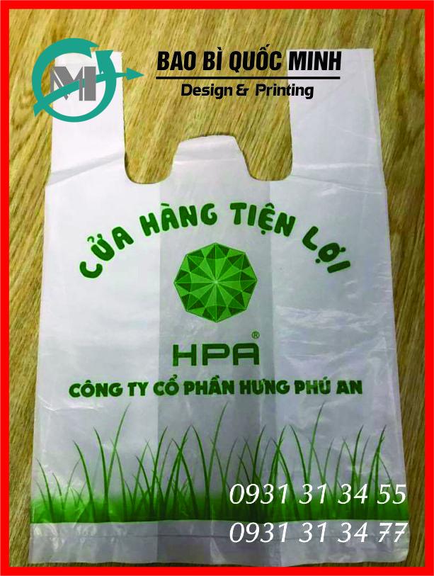 Mẫu Túi Xốp Hai Quai In Ống Đồng