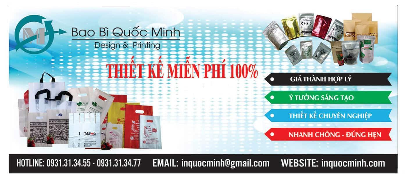 In ấn Quốc Minh - chuyên in ấn túi zipper, túi pe, túi pp, túi quai ép, túi HD...
