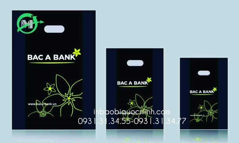 In thương hiệu Bắc Á Bank trên túi in