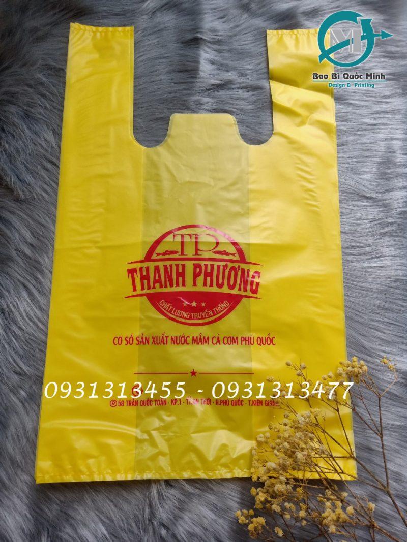 Túi xấp dùng trong các gian hàng tại chợ