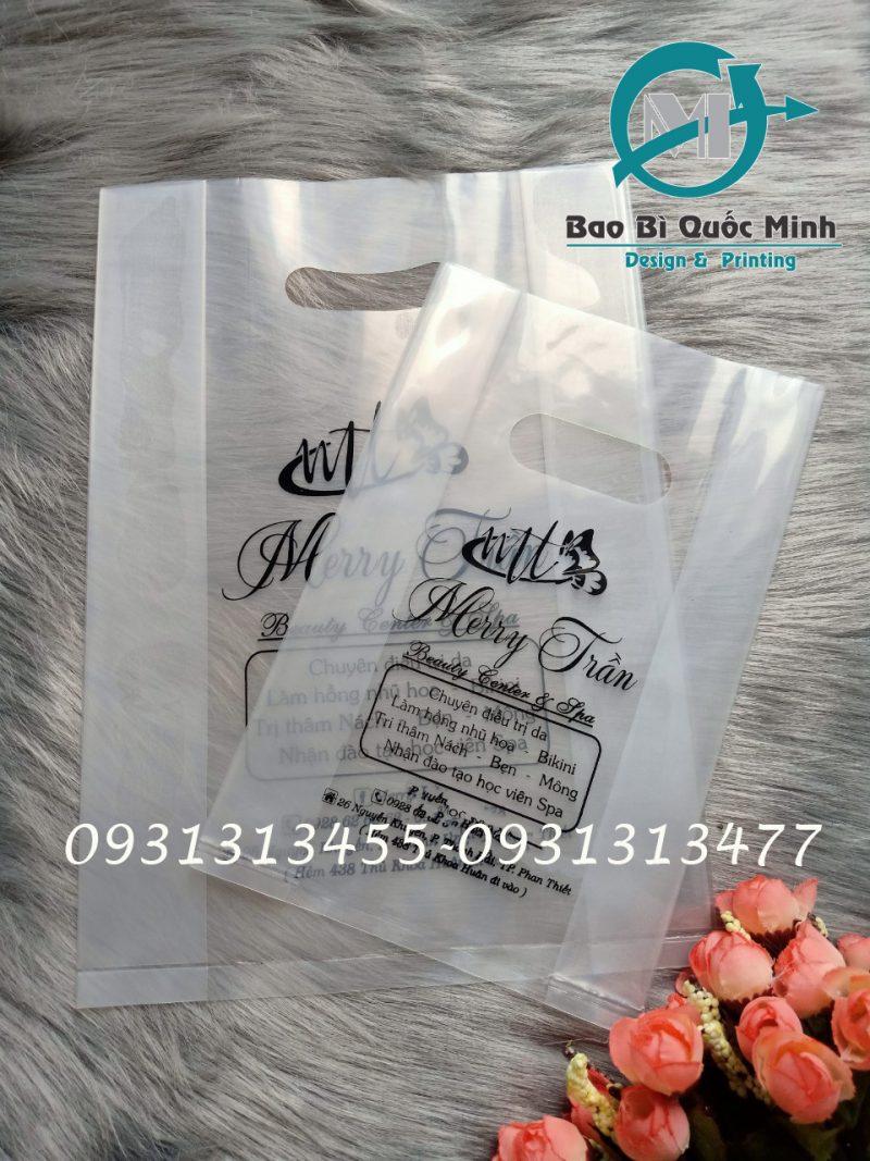 Kích thước của túi nilong trong suốt thường sử dụng